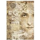 Stamperia - Rice Paper Sheet A4 - Old Lace Face